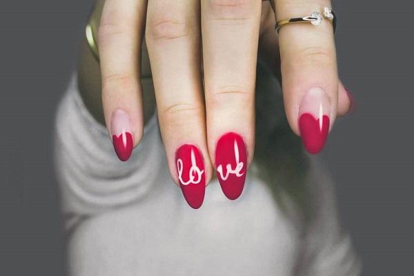 manicure czerwone paznokcie