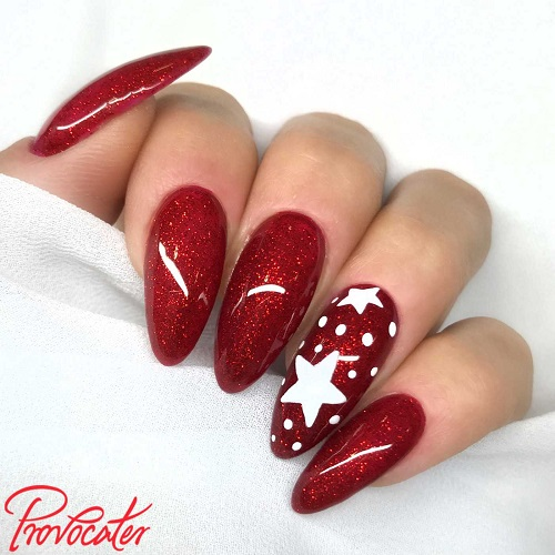 paznokcie swiateczne